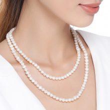 Collana doppia con perle d'acqua dolce