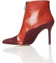 FIND Stivali con Tacco Alto Donna, Rosso (Red), 37 EU