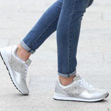 Sneakers con dettagli glitter