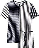 FIND T-shirt Asimmetrica a Righe Donna