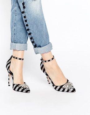 ASOS - NIGHT PITCH BLACK - Scarpe a punta con tacco alto
