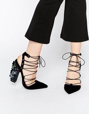 ASOS - PRINCIPA - Scarpe a punta con tacco e stringhe