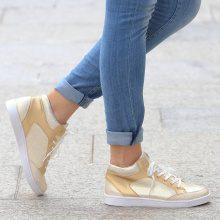 Sneakers alte in colori metallizzati