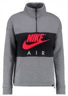 Nike Sportswear AIR HALF ZIP TOP Felpa carbon heather/anthracite/siren red