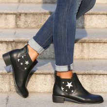Chelsea boots con stelle a contrasto