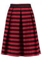 REPEAT STRIPED - Gonna a pieghe - rio red