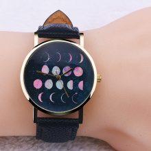 Orologio da polso con motivo a fasi lunari