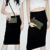 Belfen? Donna Soft Pelle Smartphone Wristlet Cross Body a portafoglio con porta carte di credito/tracolla/polso Strap- [per cellulari fino a 15,7x 8,1x 1cm Inch] ¡