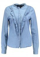 Vero Moda VMRAVEN RUFFLE Camicia light blue denim