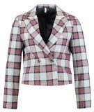 Topshop B&B CHECK CROP Blazer grey