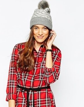 Jack Wills - Thurlow - Berretto Fair Isle con pompon