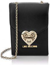 Love Moschino Borsa Nappa Pu Nero - Borse Baguette Donna, Schwarz (Black), 17x12x6 cm (L x H D)