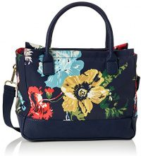 Joules Day To Day Canvas, Borse a spalla Donna, Blu (French Navy Posy), 18x26x31 cm (W x H x L)