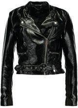 ONLY ONLANN GLAZED FAUX LEATHER BIKER Giacca in similpelle black