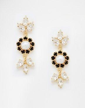 Krystal - Orecchini pendenti con cristalli Swarovski misti