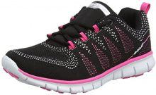 Gola Tempe, Scarpe Sportive Indoor Donna, Nero (Black/Hot Pink), 38 EU