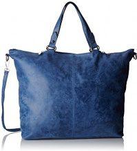Chicca Borse 80055, Borsa a Tracolla Donna, Blu (Blu Jeans), 47 x 34 x 15 cm (W x H x L)