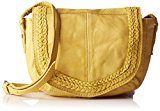 PIECES Pcmonica Leather Cross Body - Borse a spalla Donna, Gelb (Lemon), 14x30x35 cm (L x H D)