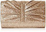 SwankySwansSerafina Shimmer Glitter Clutch Bag Gold - Sacchetto donna , oro (Gold (Gold)), Taglia unica
