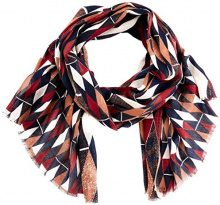 United Colors of Benetton Scarf, Sciarpa Donna, Multicolore (Multicolor Black, White, Red, Brown), Taglia Unica
