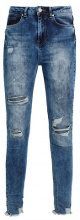 Missguided SINNER HIGHWAISTED CHEWED Jeans Skinny Fit vintage blue