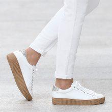 Sneakers con plateau e dettagli glitter