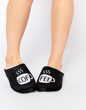 Daisy Street - Pantofole con caffè