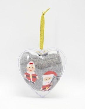 ASOS - Calzini con Babbo e Mamma Natale all'interno di una pallina di Natale