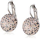 Eve S jewelry orecchini da donna con Swarovski Elements Patina Rose (14mm) placcati argento rodiato taglio rotondo, rosa–0501541049
