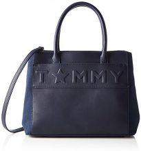 Tommy Hilfiger Logo Story Tote - Borse a mano Donna, Bleu (Tommy Navy), 14x24x33 cm (W x H L)