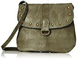 PIECES Pcnadeen Leather Cross Body - Borse a tracolla Donna, Grün (Dark Olive), 5x21x26 cm (B x H T)