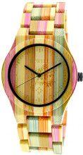 Orologio da polso colorato in bambù