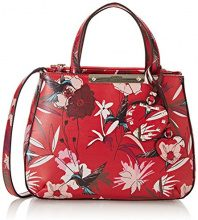 Guess Hwff6693050, Borsa a Mano Donna, Rosso (Red Floral), 12x22.5x28.5 cm (W x H x L)