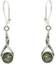 Nova Silver - Orecchini pendenti da donna con pietre semipreziose, argento sterling 925, 40 mm, cod. A/E1895