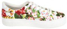 Sneakers con plateau a fiori