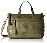 PIECES Pcnara Leather Bag - Borsette da polso Donna, Grün (Dark Olive), 13x34x43 cm (B x H T)