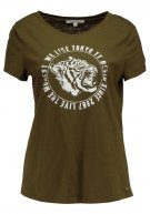 TOM TAILOR DENIM EASY TIGER Tshirt con stampa golden olive green
