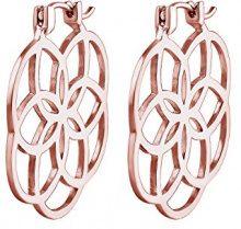 Elli–Orecchini pendenti da donna, argento 925Ornament fiore della Vita Floral–0302490216