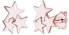 Elli-Orecchini in argento Sterling 925, motivo: stelle, Argento, colore: rose gold, cod. 0301382815