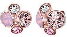 Elli Orecchini da donna in argento 925con cristalli Swarovski taglio rotondo–0303620816, argento, colore: Oro rosa, cod. 0303750816