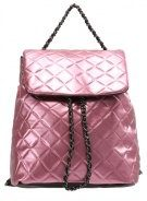 Missguided QUILTED CHAIN Zaino rose gold