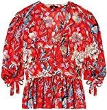 FIND Blusa a Fiori con Manica a Palloncino Donna, Multicolore (Multicoloured Mpr 301), X-Large