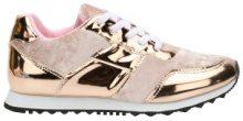 Sneakers metallizzate in materiali misti