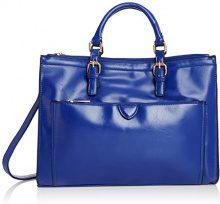 SwankySwansKerry Office Work - Borsa tote Donna, Blu (Blue (Royal Blue)), Taglia Unica