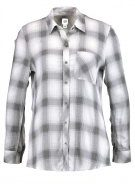 GAP DRAPY PLAID  Camicia ombre plaid black