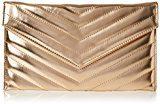 Swanky Swans Marla V Stitch Metallic Clutch Bag - Pochette da giorno Donna, Gold (Champagne Rose), 2.5x17.3x29.2 cm (W x H L)