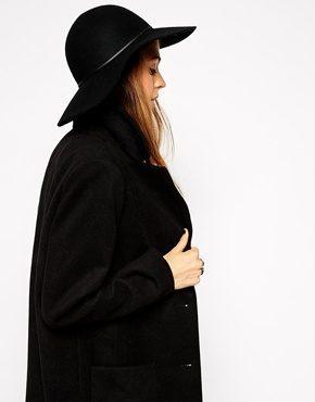 ASOS - Cappello floscio in feltro con fascia sottile