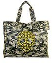 CACO Design Shopper Camouflage Grande Teschio, Borsa a Spalla Donna, Giallo, 8x42x41 cm (W x H x L)