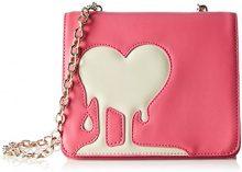 Love Moschino JC4095, Borse a Tracolla Donna, Multicolore (Pink/Ivory), 7x16x19 cm (B x H x T)