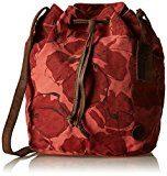 Timberland TB0M5385, Borsa a secchiello Donna, Rosso (Spiced Coral), 16.5x31x27 cm (W x H x L)